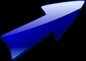 freccia blu indicativa